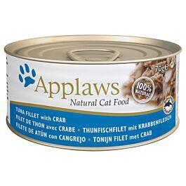 Applaws Katzenfutter Tin Thunfischfilet & Krabben