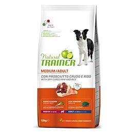Trainer Hundefutter Natural Medium Adult Rohschinken