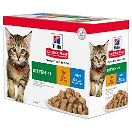 Hill's Katze Science Plan Kitten Nassfutter Multipack 12x85g