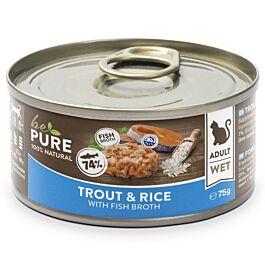 bePure Nassfutter Katze Adult Forelle & Reis