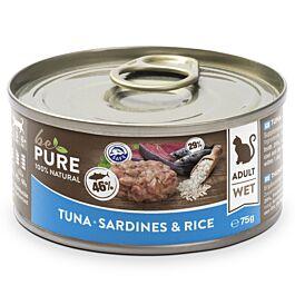 bePure Nassfutter Katze Adult Thunfisch,Sardine & Reis