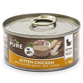 bePure Nassfutter Katze Kitten Huhn mit Reis & Käse