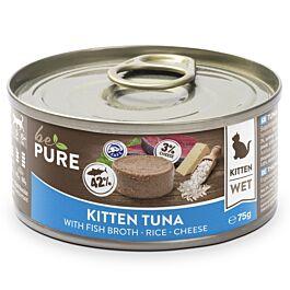 bePure Nourriture humide Kitten thon, riz & fromage