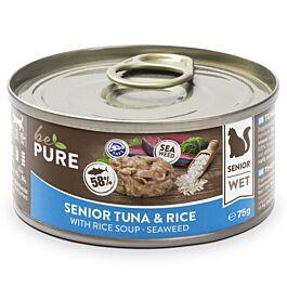 bePure Nassfutter Katze Senior Thunfisch & Reis