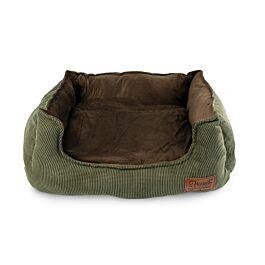 Freezack Hundebett Stlyer braun/grün