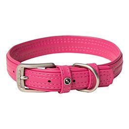 Rogz Hunde Lederhalsband pink