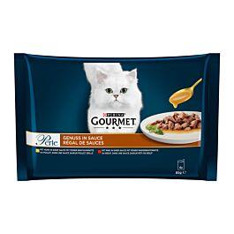 Gourmet Katzenfutter Perle Genuss in Sauce mit Fleisch