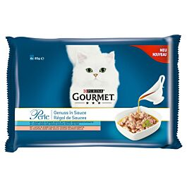 Gourmet Katzenfutter Perle Genuss in Sauce mit Fisch
