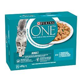 Purina ONE Katzenfutter Adult in Sauce mit Ozean Fisch