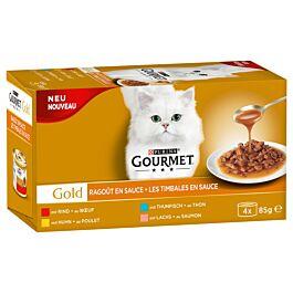 Gourmet Nourriture pour chats Gold Sauce Delight avec Poulet