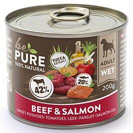bePure Nourriture humide Adult Boeuf & Saumon
