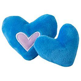 Rogz Katzenspielzeug Catnip Hearts 2 Stück verschiedene Farben