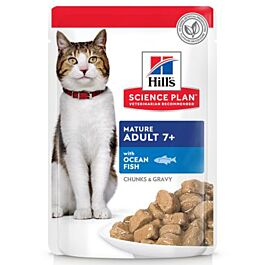 Hill's Katzenfutter Science Plan Mature Adult 7+ Nassfutter mit Meeresfisch