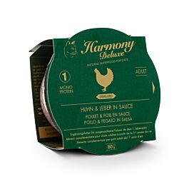 Harmony Cat Deluxe Cup Adult Huhn & Leber in Sauce Sterilised