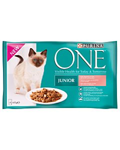 Purina ONE Junior Lachs 4x85g
