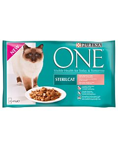 Purina ONE Sterilcat Lachs in Gelée 4x85g