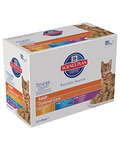 Hill's Science Plan Feline Adult Mixed Mutlipack 12x85g