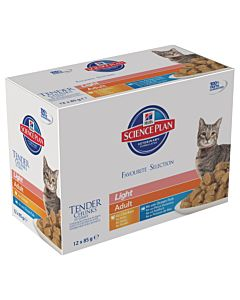 Hill's Science Plan Feline Light Mixed Mulipack 12x85g