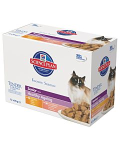 Hill's Science Plan Feline Senior 11+ Mulipack 12x85g