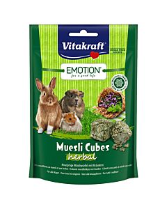 Vitakraft Emotion Müsli Cubes Herbal 80g