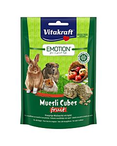 Vitakraft Emotion Müsli Cubes Fruit 80g