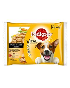 Pedigree Adult Huhn & Rind in Sauce 4x100g