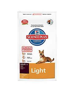 Hill's Science Plan Canine Adult Light Huhn 7.5kg