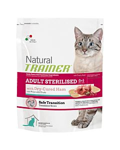 Trainer Feline Natural Sterilised Dry Cured Ham 7.5kg