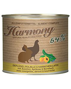 Harmony Dog Volaille & Lapin avec courgettes, abricot & bourrache