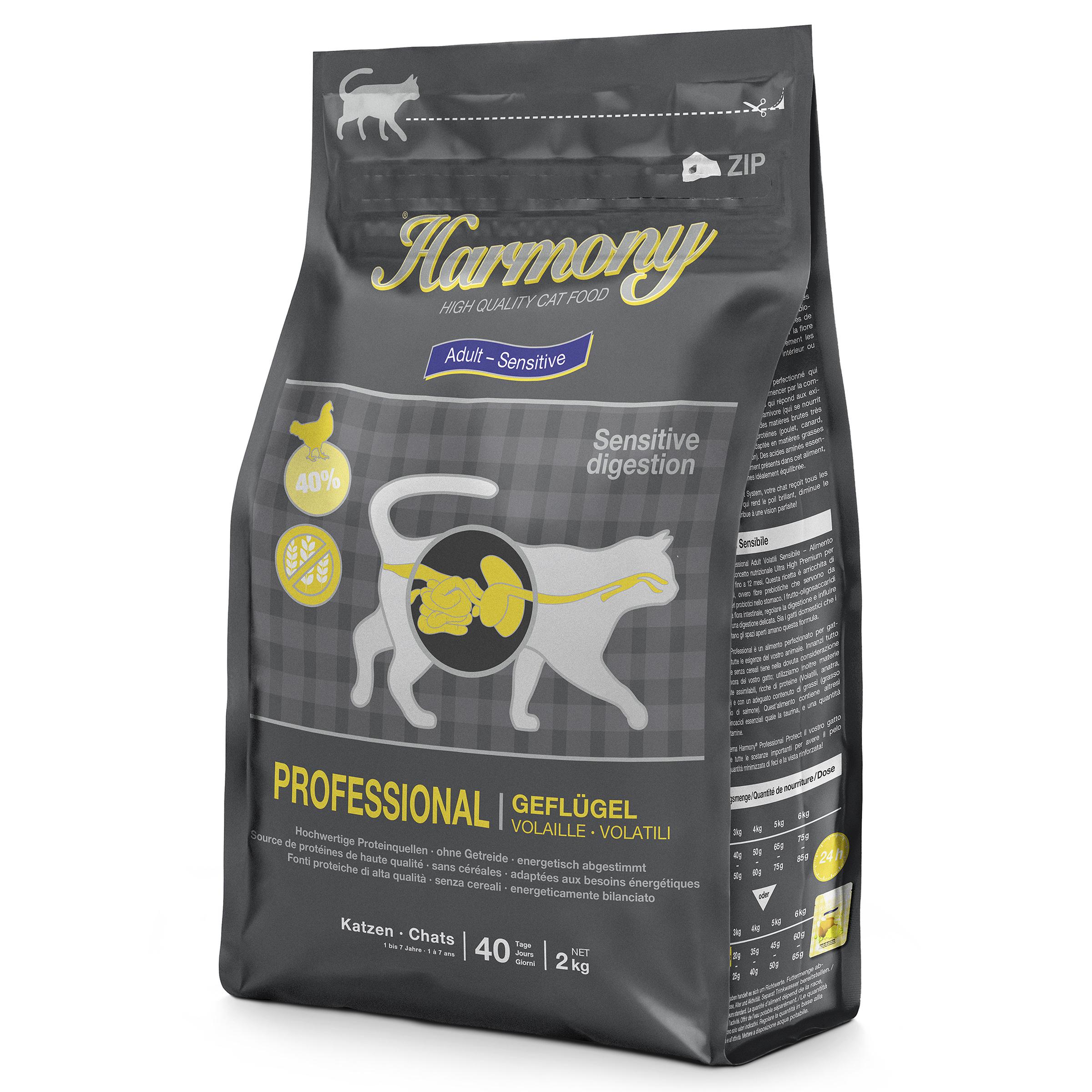Harmony Cat Professional Adult Sensitive Geflügel Katzenfutter