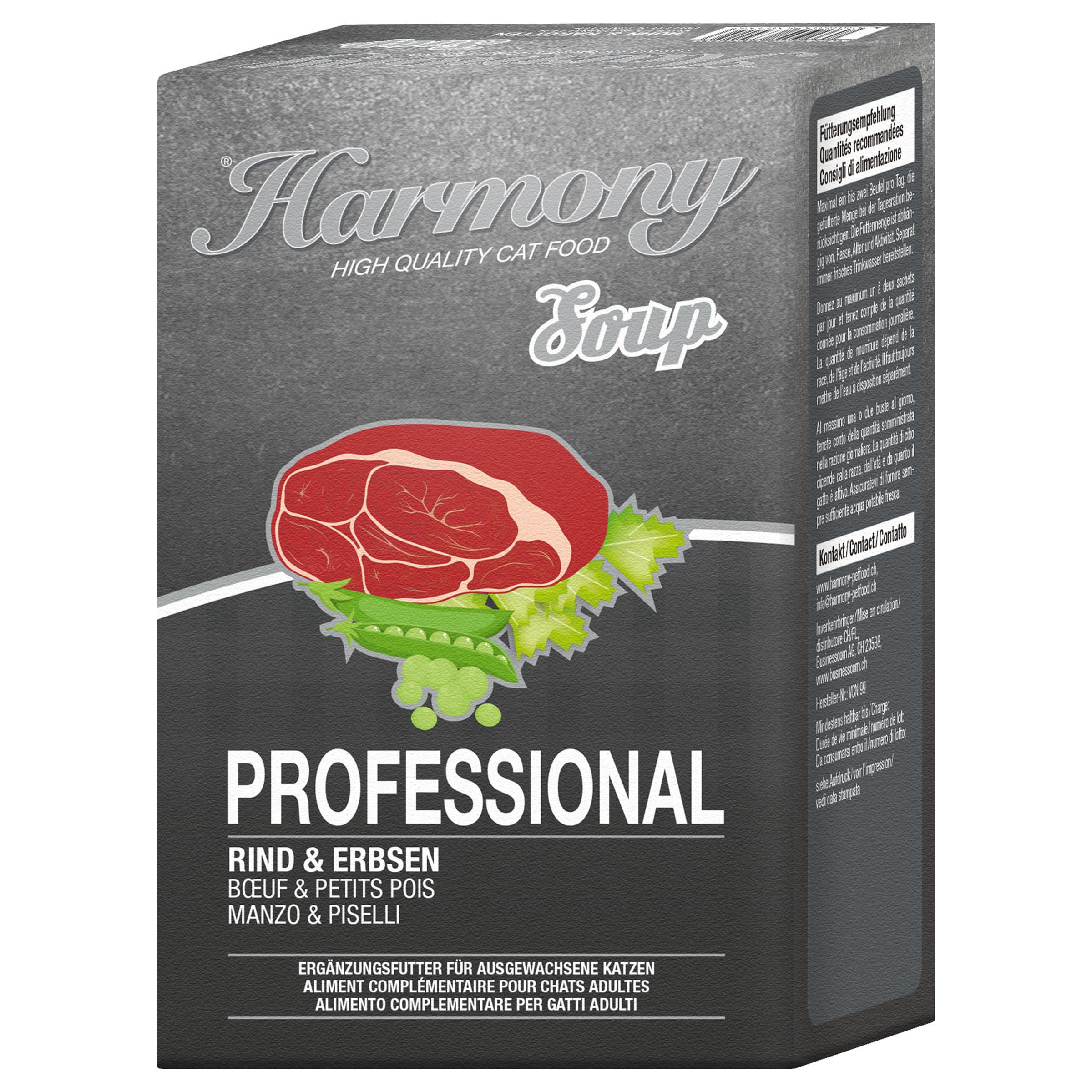 Harmony Cat Professional Katzensuppe Rind & Erbsen