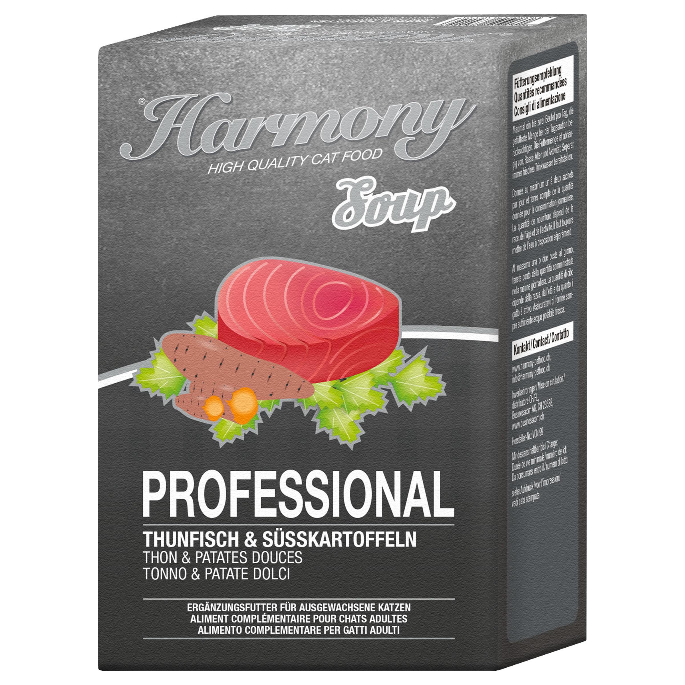 Harmony Cat Professional Soupe pour chats Thon & Patates Douces
